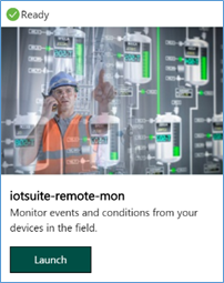 Launch Remote Monitoring Solution
