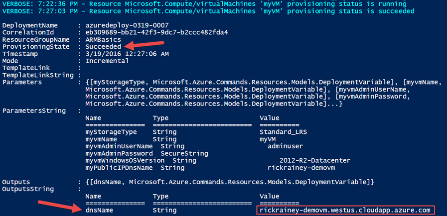 PowerShell Resources Provisioning
