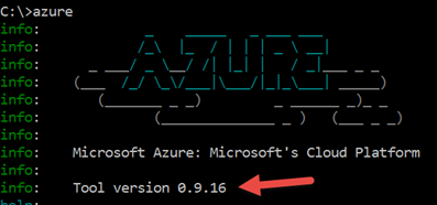 CLI Azure Version