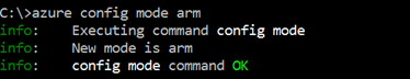 CLI Azure Azure Config Mode ARM
