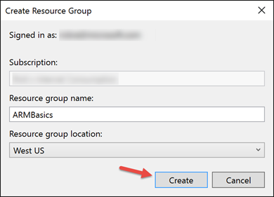 Create Resource Group Project