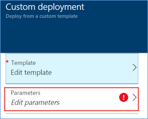 Edit Template Deployment Parameters