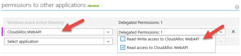 Azure AD application permissions