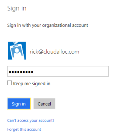 Azure AD Sign-In