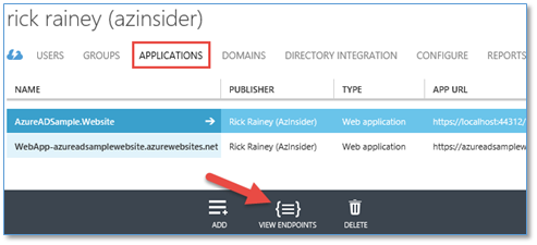 Deep Dive: Azure Websites and Organizational Authentication using
